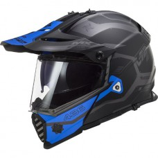 LS2 MX436 Pioneer Evo Cobra matt fekete-kék