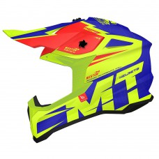 MT Falcon Weston Cross bukósisak kék-piros-neon