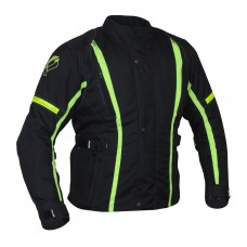 Plus Racing Katy női motoros kabát fekete-neon