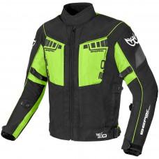 Berik Faith Motoros Kabát Fekete-Zöld