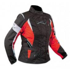 A-pro Traveller női motoros kabát fekete-piros