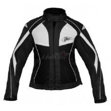 Tiana motoros női kabát fekete-fehér
