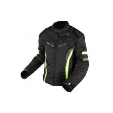 Adrenalin Sola motoros kabát fekete-neon