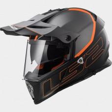 LS2 Pioneer Trigger MX436.21 bukósisak fekete-narancs