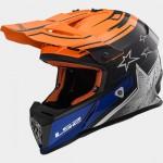 LS2 MX437 cross bukósisak CORE fekete-narancs-kék