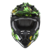 NOX N632 Inferno Gyerek cross bukósisak fekete-sárga-zöld