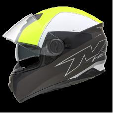 NOX N301 zárt bukósisak fekete-fehér-neon