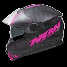 NOX N301 zárt bukósisak fekete-rózsaszín