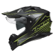 NOX N312 túra-enduro bukósisak fekete-neon