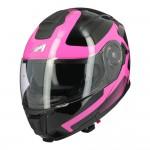 Astone RT 1200 felnyitható bukósisak fekete-pink