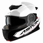 Astone RT 1200 felnyitható bukósisak fehér fekete