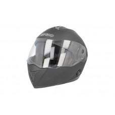 ISPIDO Fantom felnyitható bukósisak matt fekete