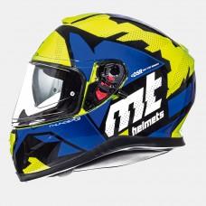 MT Thunder SV Torn zárt bukósisak sárga-kék