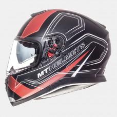 MT Thunder SV Trace zárt bukósisak matt fekete-piros
