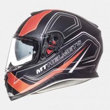 MT Thunder SV Trace zárt bukósisak matt fekete-narancs