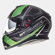 MT Thunder SV Trace zárt bukósisak matt fekete-zöld