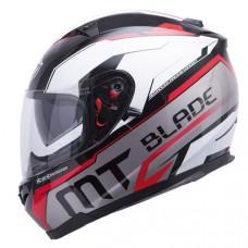 MT Blade SV Super R zárt bukósisak fehér-fekete-piros