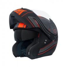 MT Optimus felnyitható bukósisak narancs-fekete