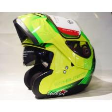 MT Optimus felnyitható bukósisak neon