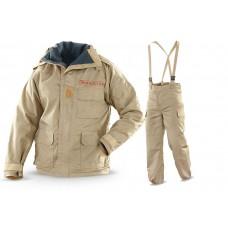 Katonai kétrészes, szél és esőálló ruha. Esőruha