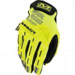 Mechanix M-pact kesztyű hi vision citrom sárga színben